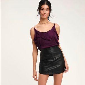 Free People Not Tired Purple Satin Bodysuit size S